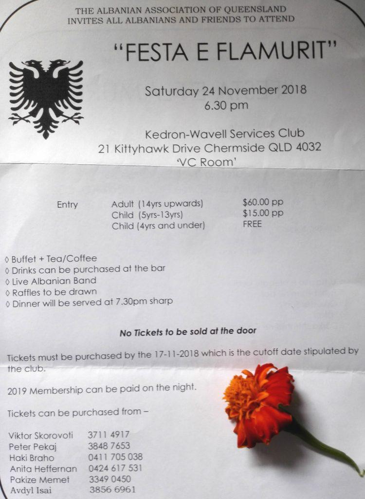 Festa e Flamurit 2019 | Albanian Consulate, Brisbane, Australia